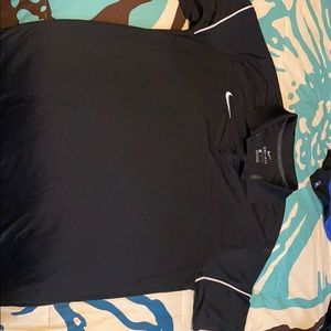 Black Nike Dri-Fit golf polo